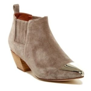 NIB Jeffrey Campbell Taupe Jude Chelsea Bootie 6